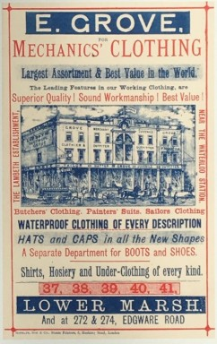 Advertisement for E Grove, Clothier