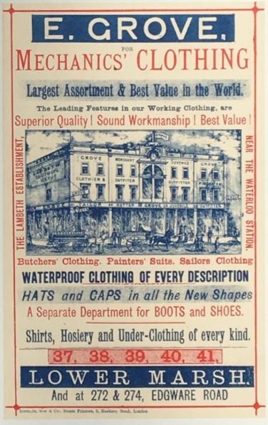 Advertisement for E Grove, Clothier