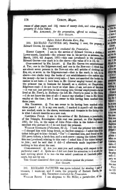 Proceedings of the Central Criminal Court, 3rd March 1862, page 140.