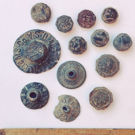 old lead buttons